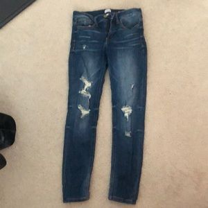mid rise size 7 jeans